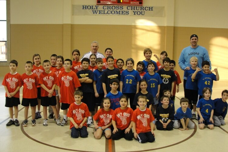 Holy Cross' HOPE/JOY Basketball team vs. Saint Spyridon's team at Holy Cross